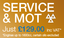 Service and MOT just £99