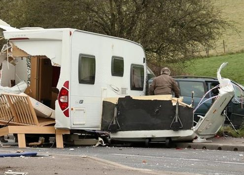 Caravan Crash Glastonbury
