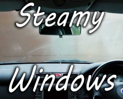 Steamed up windows