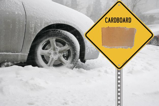 Snowed in car